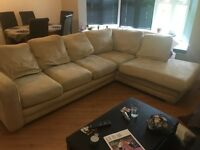 Cream DFS corner sofa