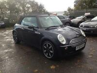 Mini Cooper 1.6 sidewalk convertible full leather 3 door 2007, 76k miles, service history, Hpi clear