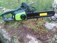 Florabest 2200/8 Watt 230 volt 50 HZ Electric Chainsaw in Good Condition very little use.
