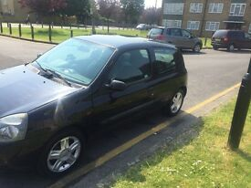 BLACK RENAULT CLIO 1.2 2006 3 DOOR NOT GOLF AUDI BMW VAUXHALL VW