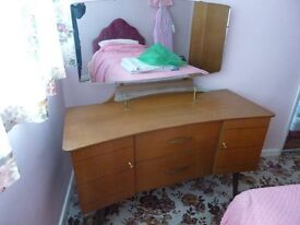 1960's Lebus Dressing Table with Mirror