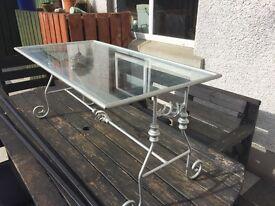 Ornamental iron coffee table