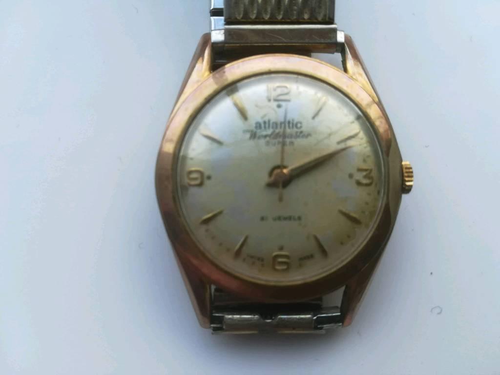 Atlantic Worldmaster Super Watch. Swiss Made. 1960s Gloriosa Men s Watch.  both 21 Jewels. Ingersol. b57b31e6dc