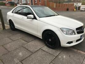 2009 Mercedes-Benz C Class 2.2L C220 CDI BLUEEFFICIENCY WHITE SALOON 4 DOOR