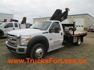 2011 ford F-550 XLT 4X4, PICKER TRUCK + 9 Ft DECK!!!