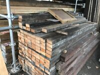 Reclaimed 4x2 Red Pine joists