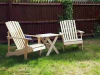 Wooden garden set or patio
