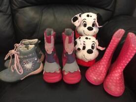 Girls boots size 7 Clarks, lelli Kelly's