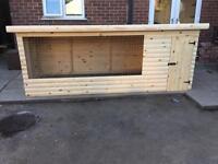 Dog kennel with run 10x4 .