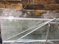 Shower glass panels