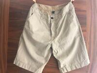 Primark Khaki Chino Shorts (Size 28W)