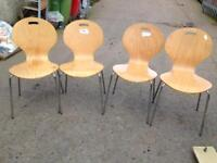 Dining chairs four £20 the set