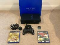 Boxed Sony PlayStation 2 PS2 + 8MB Memory Card + Super Monkey Ball Deluxe & Burnout 2