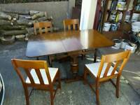 Dropleaf dining table & four chairs