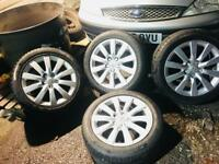 """Audi alloys 17"""" 4 with tyres can fit a1,a2,a3,a4,vw,seat,skoda"""