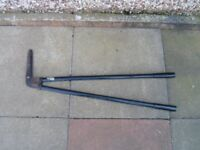 garden long handle edging shears used condition