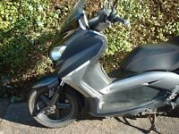 Yamaha yp xmax panel ,frame with log book, engine ,fork ,tyre ,wheel ,clutch , exhaust ,light