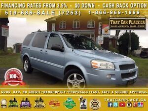 2007 Chevrolet Uplander LT1-$63/Wk-DVD-Lthr-RemoteSt-Tint-Pwr Wd