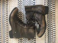 River Island military style brown boots - size 5