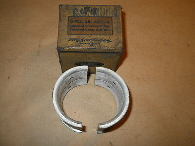 1932 33 34 35 36 FORD CONNECTING ROD BEARING WITH FLANGE STANDARD NOS 48-6211-A
