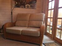 Wicker Conservatory Sofa and Chair
