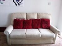 3 SEATER FABRIC SOFA & 2 ARMCHAIRS INCLUDES FREE DELIVERY.