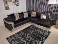 BRAND new crush velvet CORNER 3 And 2 seater sofa