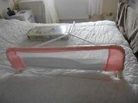 Lindam pink bed guard x 2