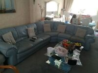 7 Seater Real Leather Corner Sofa - Sofa/Couch/Settee