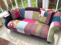 2 stunning patch work sofas DFS excellent condition