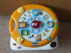 CHICCO Sing & Play MUSICAL Clock Bilingual German & English Baby Toy - FABULOUS & fully working!