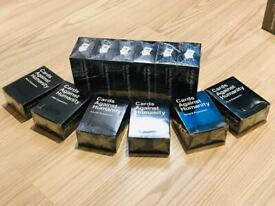 Cards Against Humanity expansion pack 1-6 and base Game 2.0