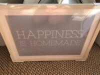 'Happiness is homemade' framed print new in cellphone.