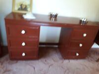 Dressing Table, 1 x 4 drawer chest, 1 x 3 drawer chest- complete set