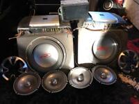 Alpine sound system complete set, nearly new great condition