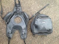 Genuine Aprillia Shiver (08 onwards) tank cover and tank bag