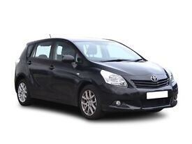 Toyota Verso 2010 (60 reg) Black with private hire sticker