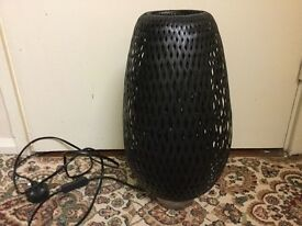 Black wicker lamp in very good condition only £10