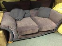 Pair of fabric sofas