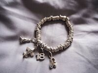 Links London Silver Charm Bracelet (with charms)