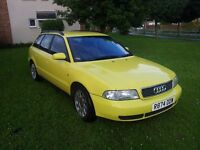 Audi A4 Estate, 1.9 TDi, Manual in Yellow, 214000, MOT till Feb 2017