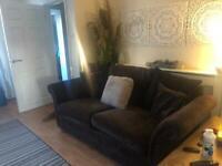 X2 Chesterfield brown 3 seater luxury velvet sofas