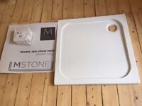Victor Paris MStone Double Skin Stone Resin 760mm x 760mm shower tray.