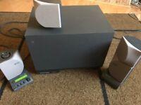 Altec Lansing subwoofer (ADA885) and 4 speakers