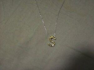 e necklace,with 18 inch chain,.