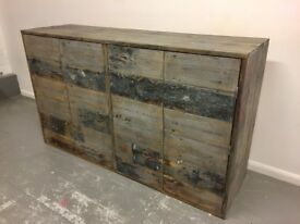 Reclaimed Timber Sideboard - Handmade 160cm x 95cm x 45cm
