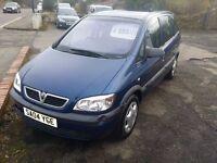 Vauxhall Zafira 1.6 16v Club 7 Seater Blue 2004 **£695 ONO**