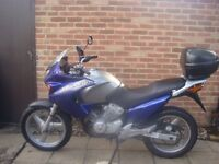 Genuine low mileage Honda varadero 125 cc motorbike mot,d learner legal cheap road tax