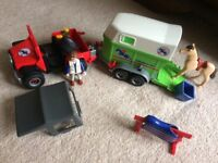 Playmobil horse box and jeep