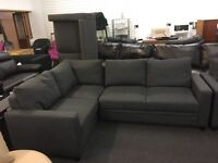 Brand New Grey Fabric Left Hand Corner Sofabed With Storage